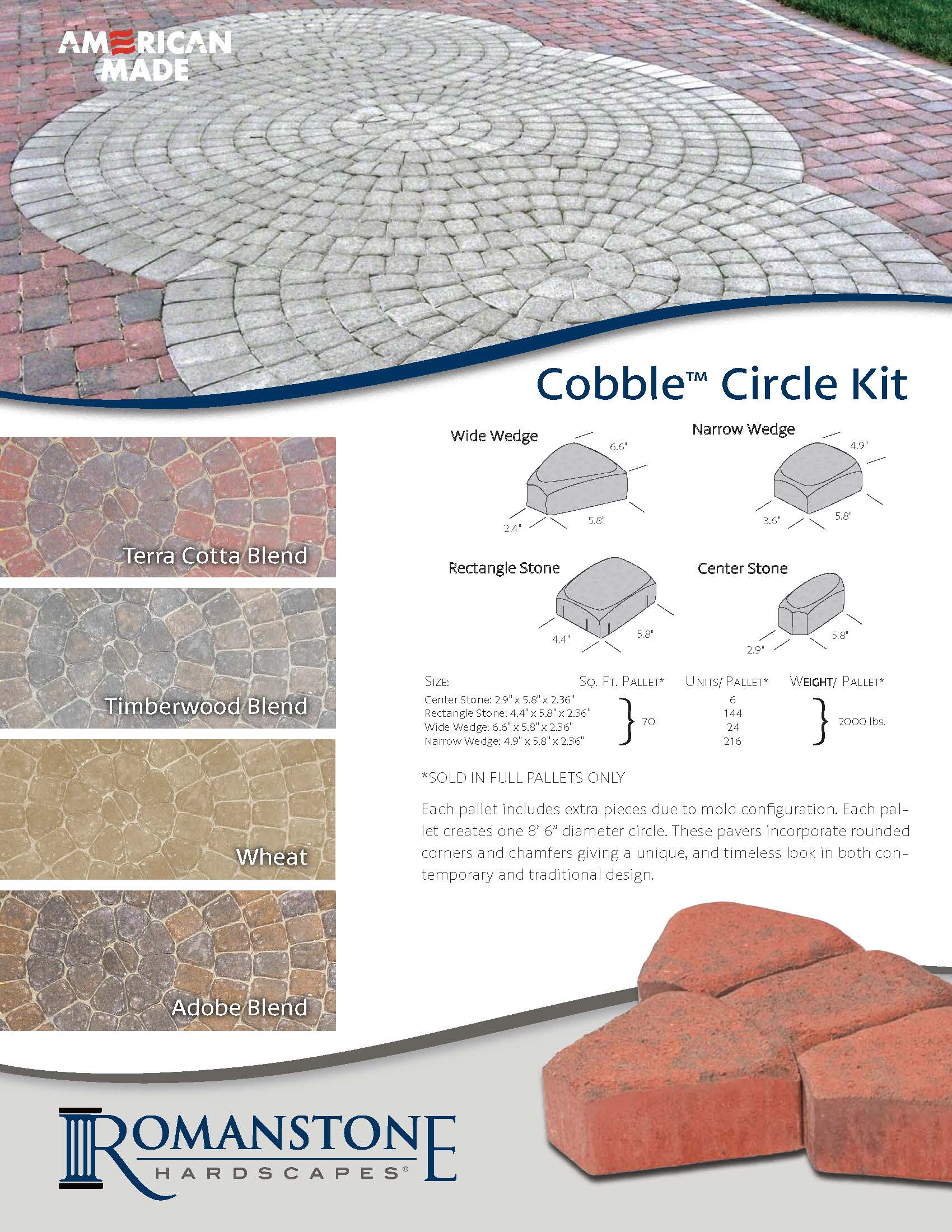 Cobble Circle Cut Sheet
