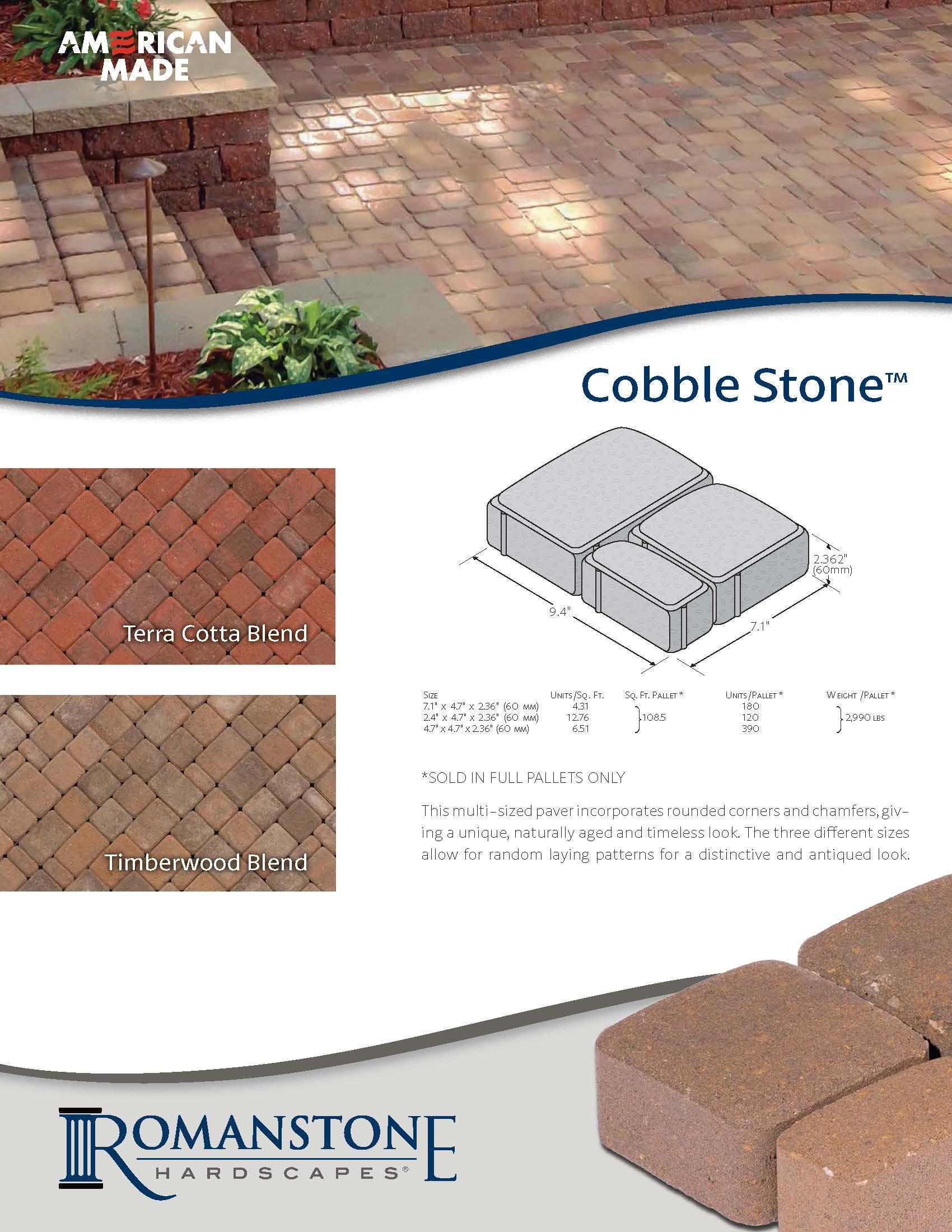 Cobble Stone Cut Sheet