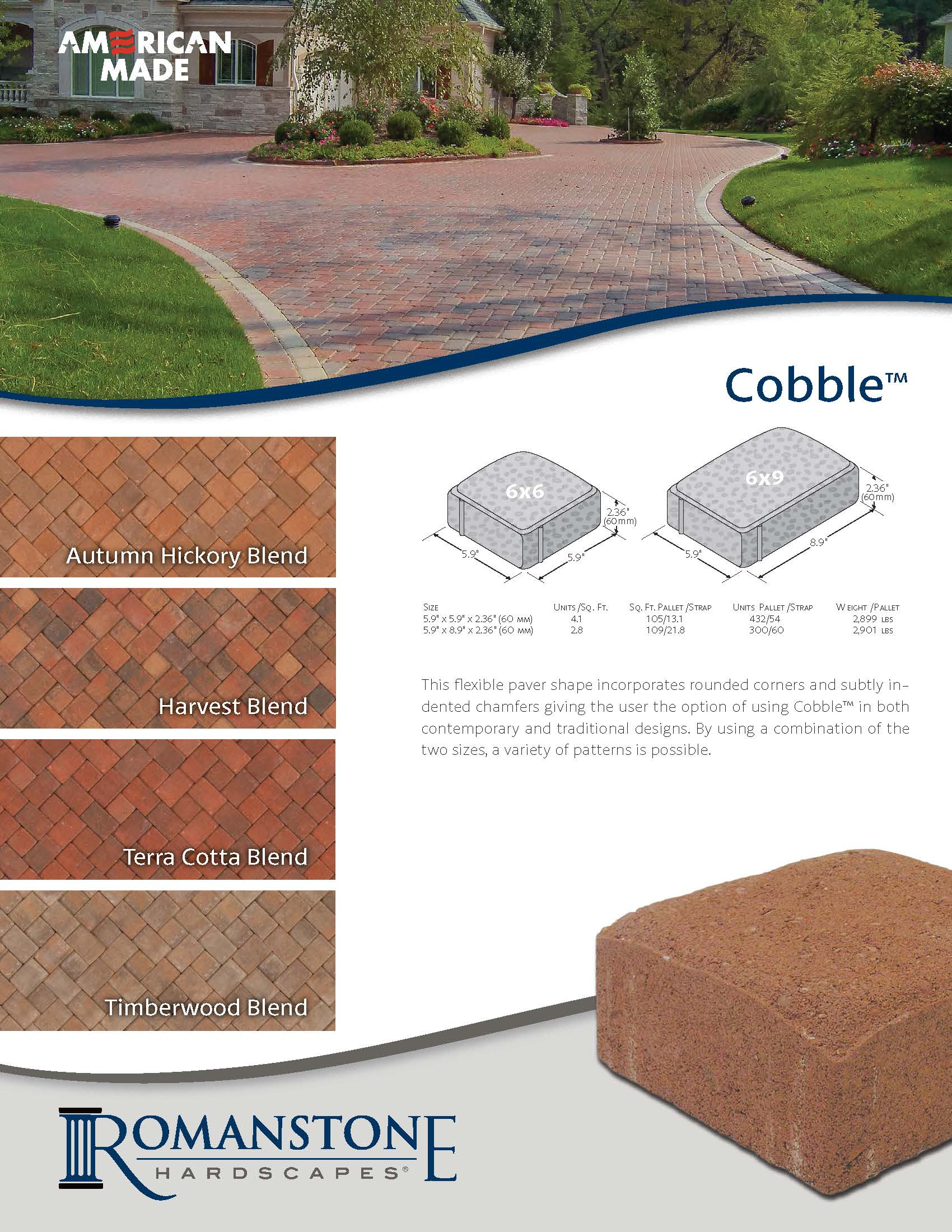 Cobble Cut Sheet