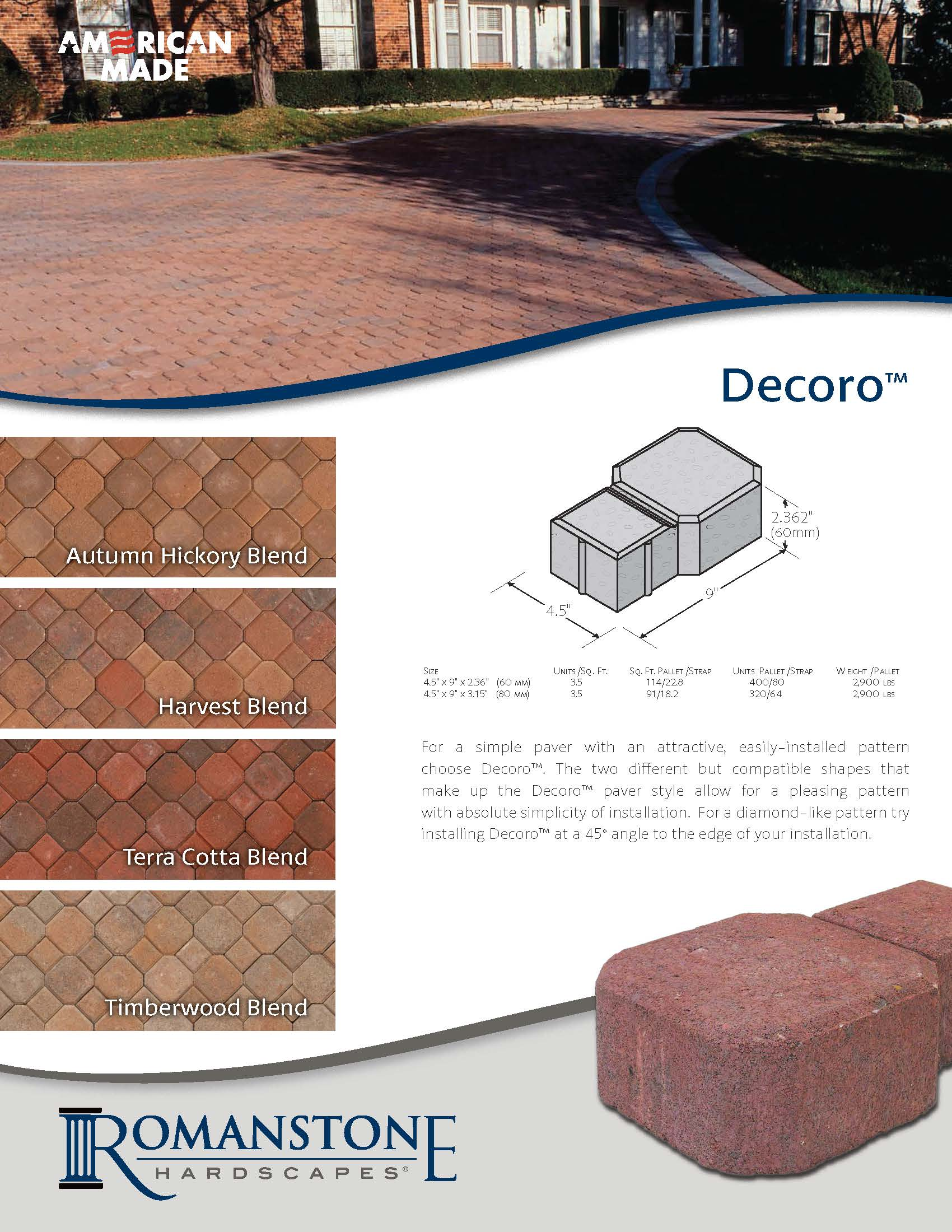 Decoro Cut Sheet