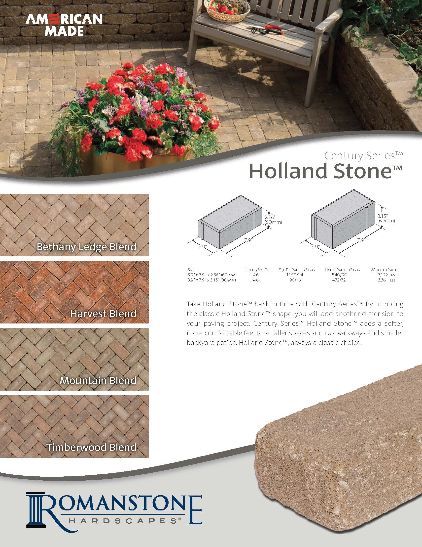 Holland Stone CS Cut Sheet
