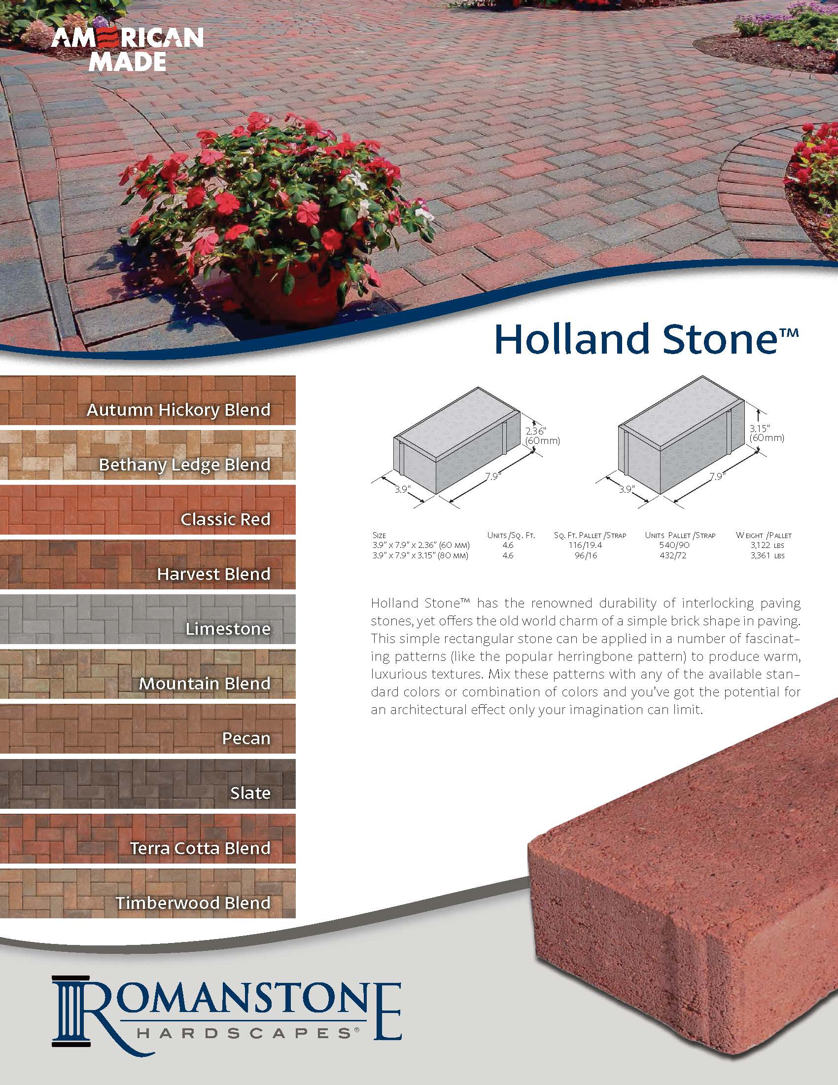Holland Stone Cut Sheet