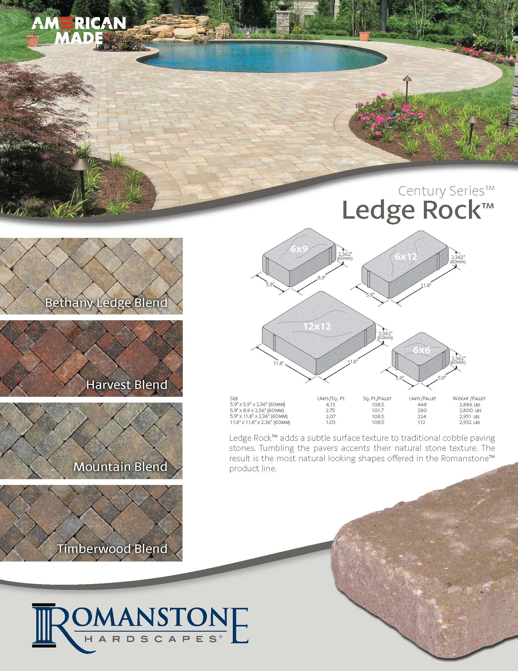 Ledge Rock Cut Sheet