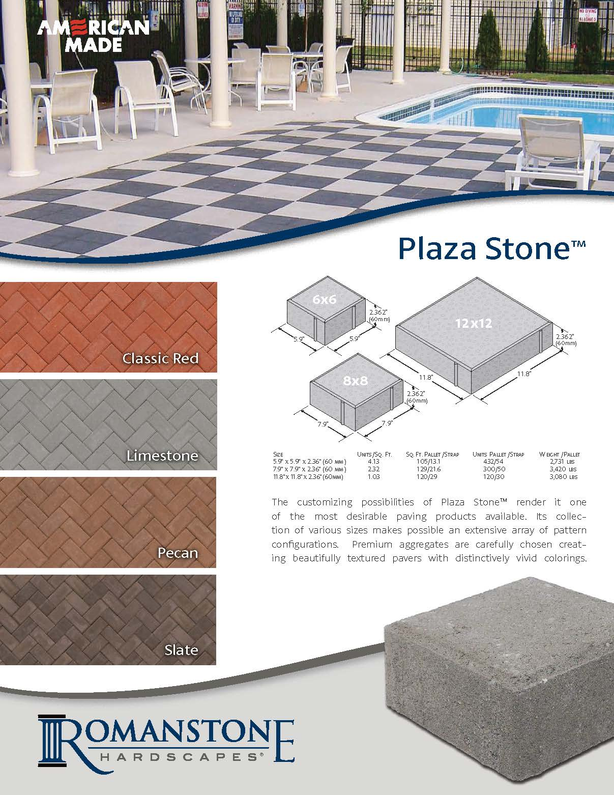 Plaza Stone Cut Sheet