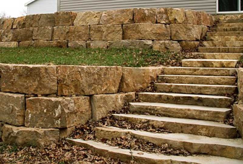 Natural Limestone Walls : Authentic dry stack stone