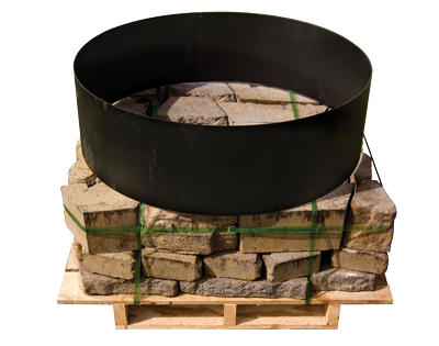 the natural stone look of the rosetta fire pit kits transform your outdoor space into an inviting warm retreat precast concrete is firesafe and - Round Fire Pit